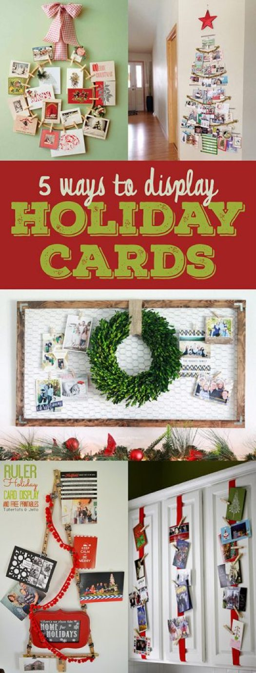 5Ways_DisplayHolidayCards