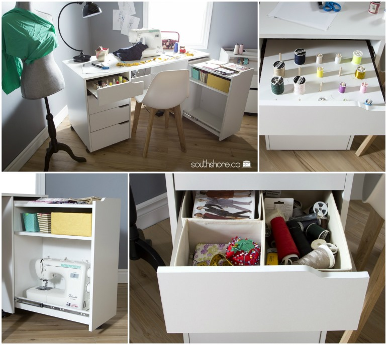 craft table with storage
