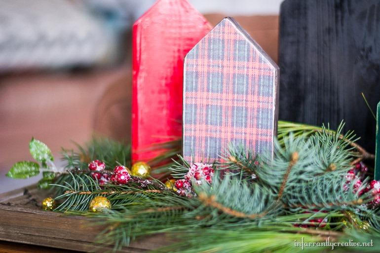wood christmas village