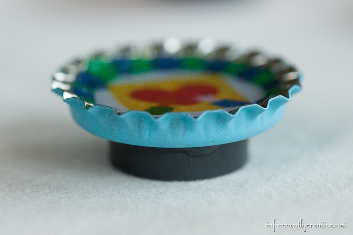 how to make bottlecap magnets