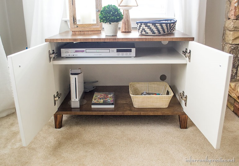 two tone west elm media cabinet