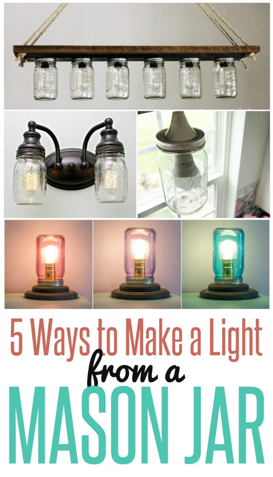 5 Ways to Make a Light from a Mason Jar