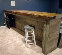 Man Cave Wood Pallet Bar {Free DIY Plans}