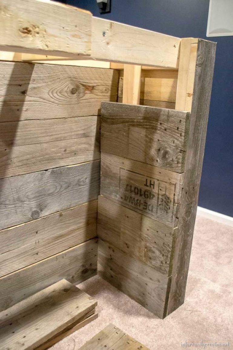 reclaimed wood pallet bar