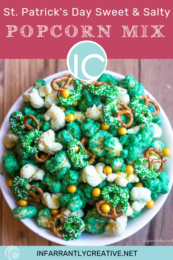 St. Patrick's Day Sweet & Salty Popcorn Mix