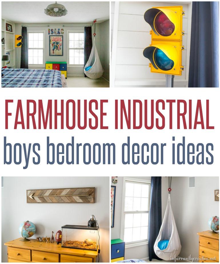 farmhouse boys bedroom
