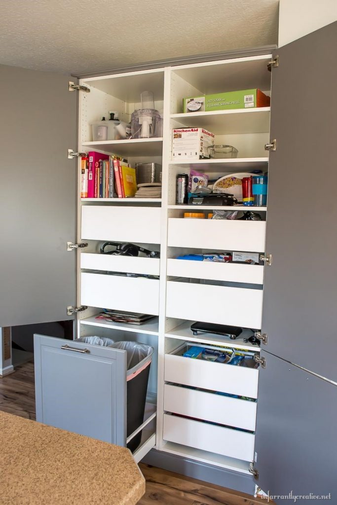 kitchen pull out trash can aid electric kettle how to assemble an ikea sektion pantry - infarrantly creative