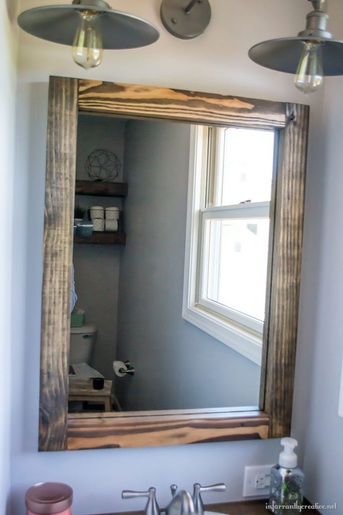 DIY Scrap Wood Mirror  Infarrantly Creative