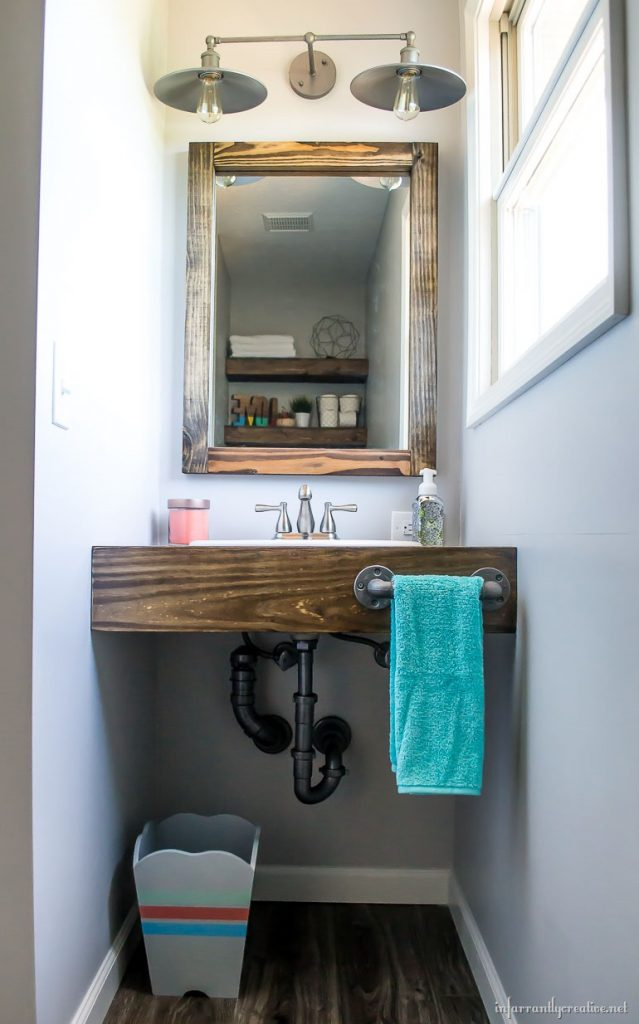 DIY Floating Wood Vanity  Infarrantly Creative
