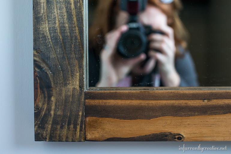 wood grain mirror
