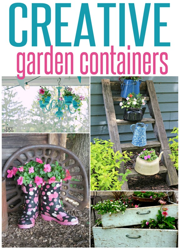 Creative Flower Pot Ideas ~ Think Outside The Traditional Planter With  These Creative Repurposed Planter Ideas