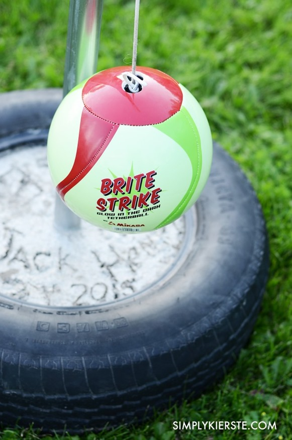 Make your own tetherball game for your backyard for half the cost of buying one!