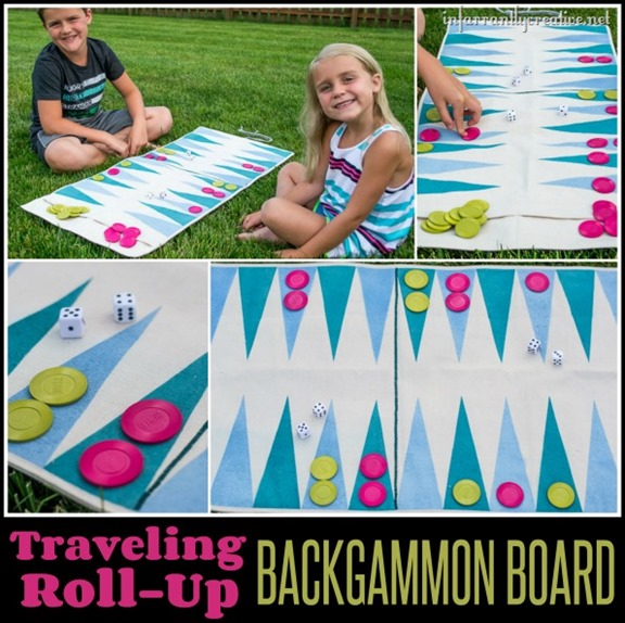 Traveling Roll-Up Backgammon Game