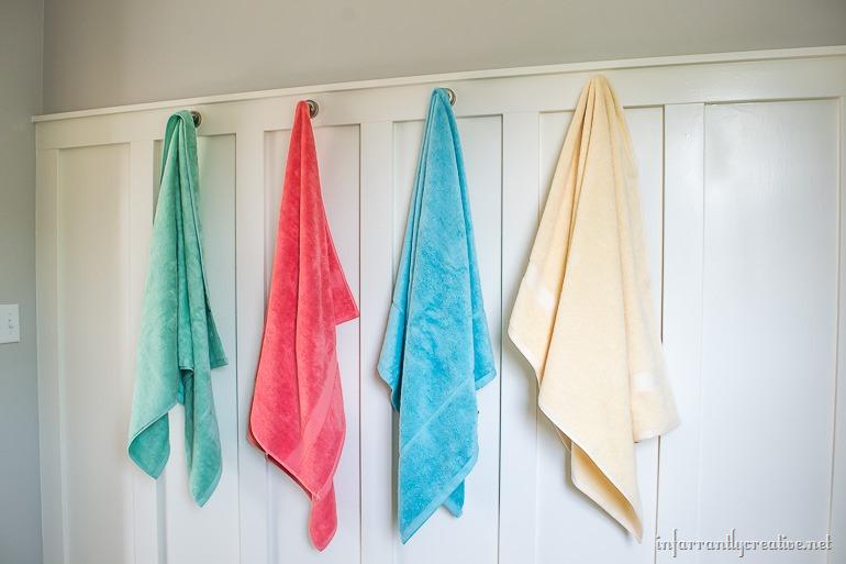 board and batten towel hooks