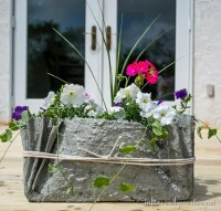 Drop Cloth and Cement Planters - Infarrantly Creative