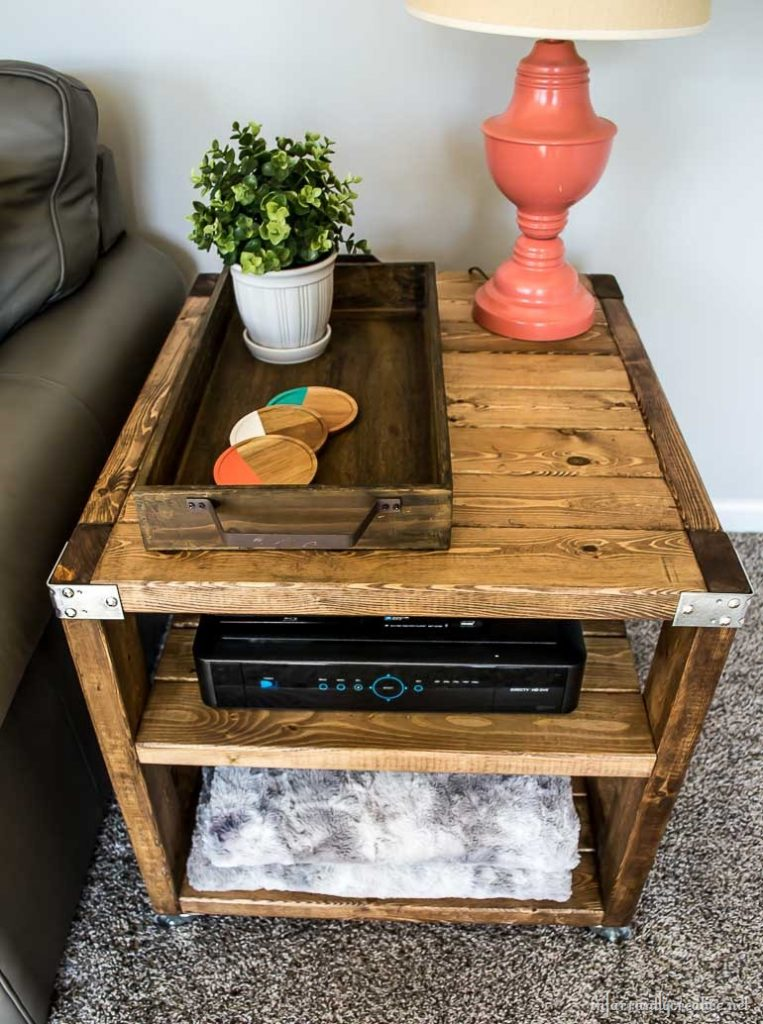 Epic end table made from x