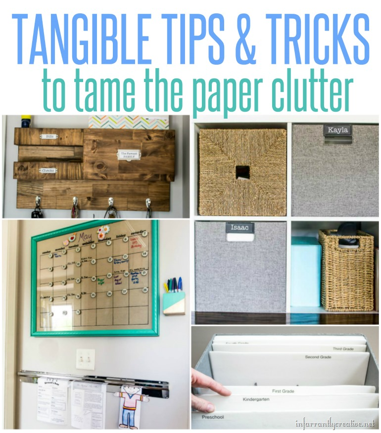 Tips for Organizing School Paper Clutter