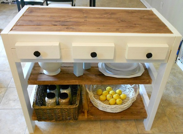 Build a kitchen cart for $30 using 2x4s.