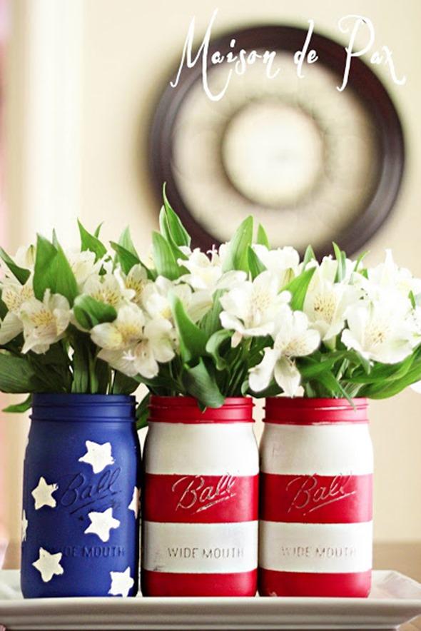 Fourth of July Mason Jars
