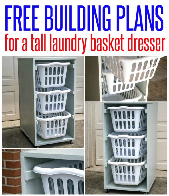 Free plans for a laundry dresser!