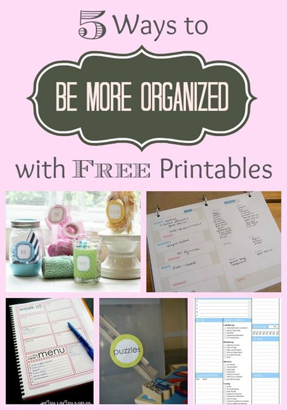 Get more organized with free printables!