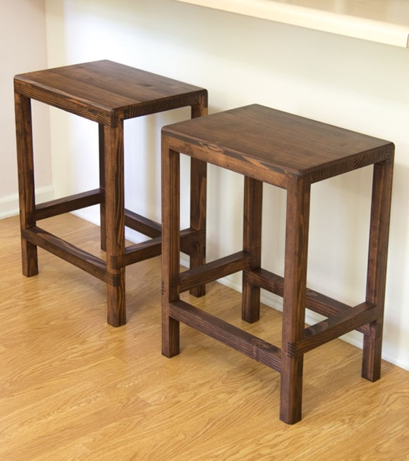 Make a set of barstools for only $20 using just 2x4s!