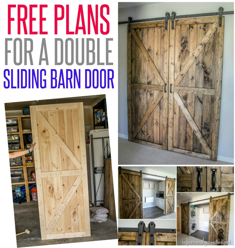 ... free-plans-for-a-double-barn-door & DIY Sliding Double Barn Doors - Reclaimed Wood - InfarrantlyCreative