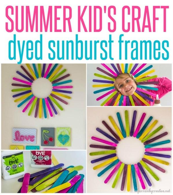 Kids Craft Popsicle Stick Sunburst