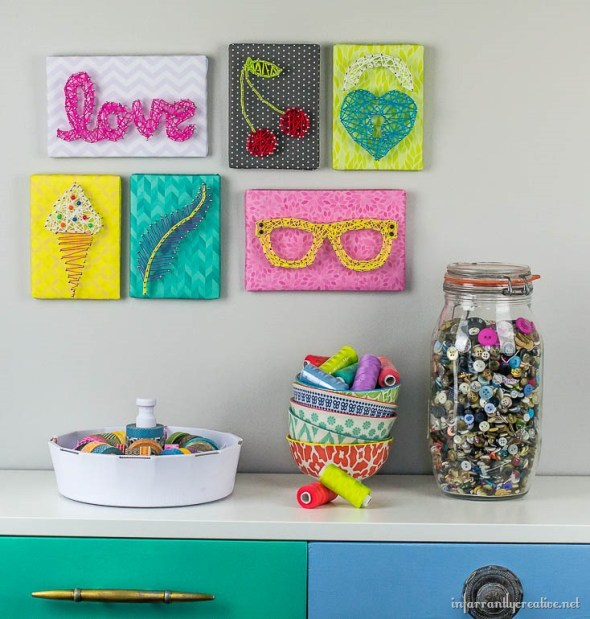 Kids String Art Gallery Wall