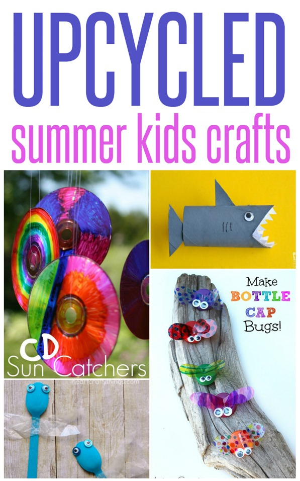 Upcycled Summer Kid Crafts