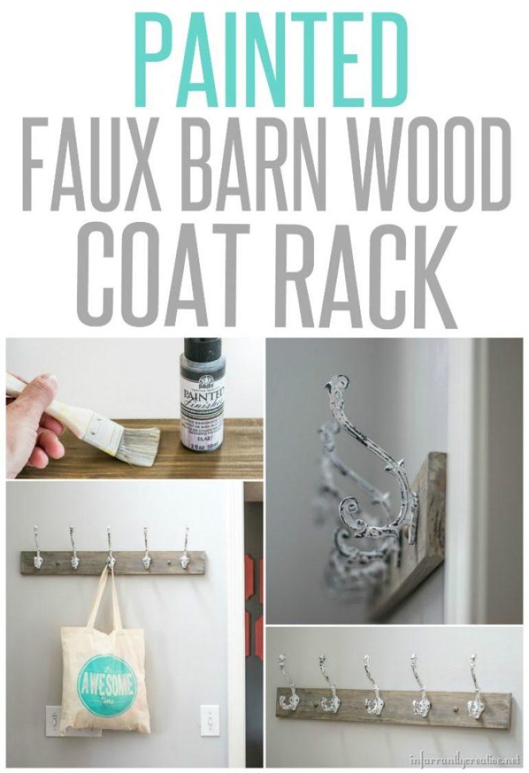 painted-faux-barnwood-coat-rack