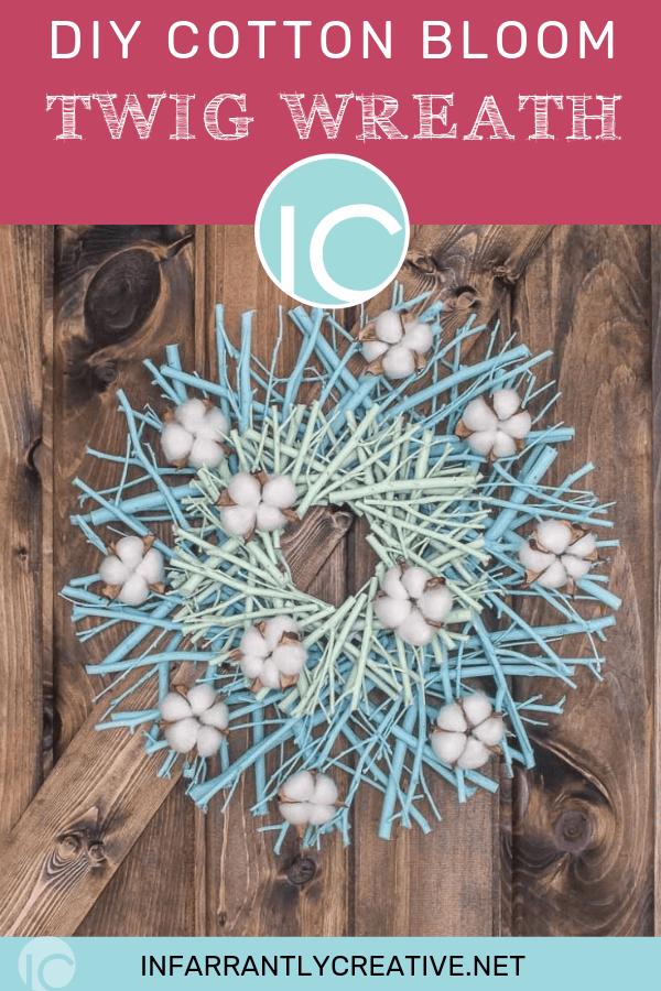 diy wreath cotton bloom twig wreath diy project