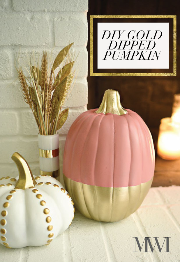 Coral and Gold Pumpkins