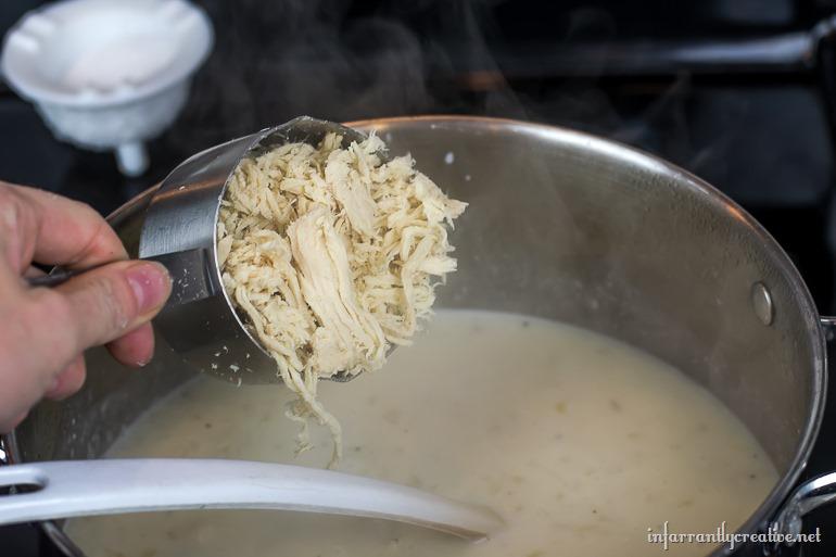 creamy chicken rice soup