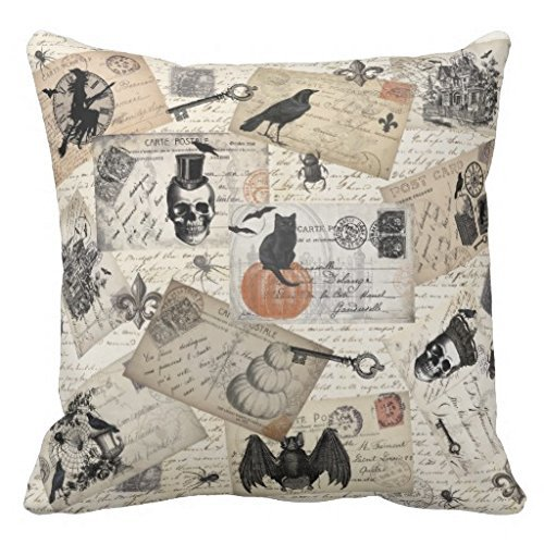 vintage halloween postcards amazon halloween pillow cover