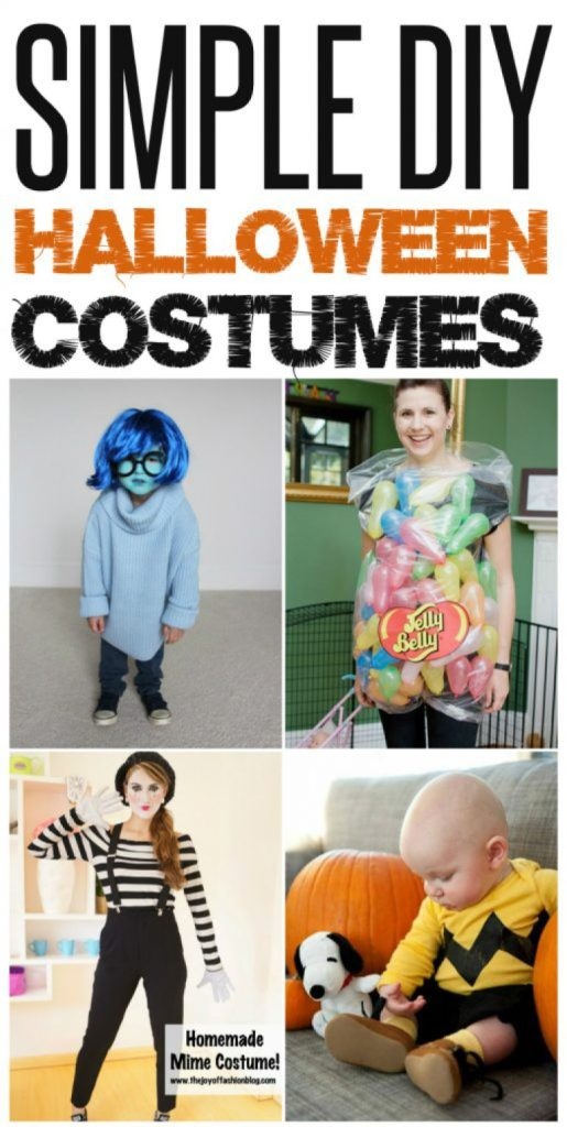 Simple DIY Halloween Costumes