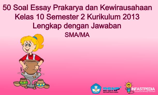 Soal Essay Prakarya Kelas 10