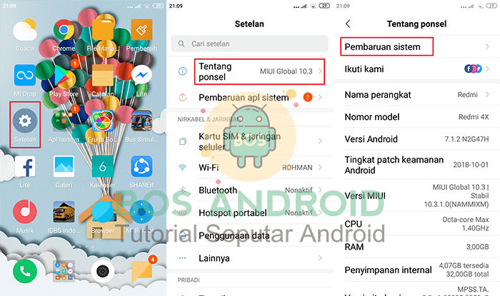 Cara Update / Flash ROM MIUI 11 [Global] Xiaomi Redmi 7A (Pine) Tanpa Error