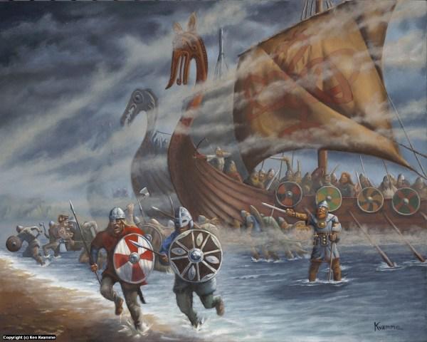 Medieval Viking Painting