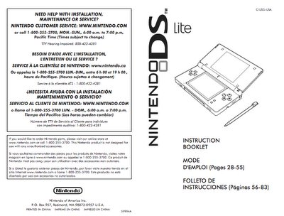Nintendo Ds Lite Instruction Manual Browse Manual Guides