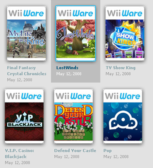 WiiWare launch titles