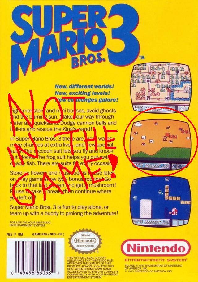 Super Mario Bros 3 Box Features Mystery Level Infendo Nintendo