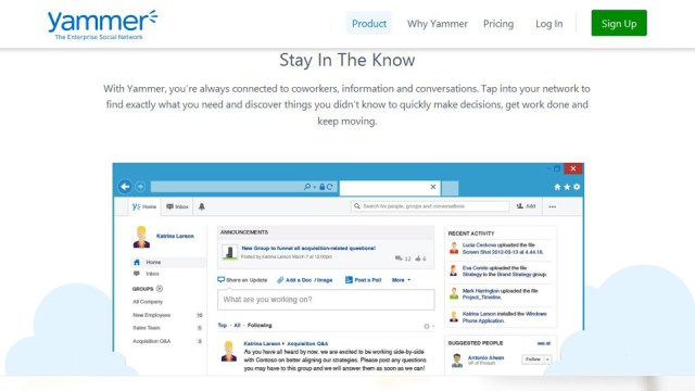 Microsoft integrates yammer into office 365 and outlook yammer ceo departs inferse - Yammer office 365 integration ...