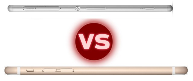iphone-6-vs-xperia-z3-side
