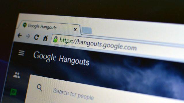 Google Hangouts web client