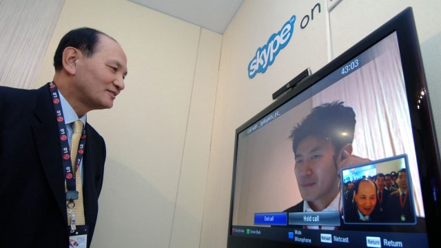 Skype smart TV app