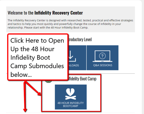 infidelity recovery center 48 hour boot camp