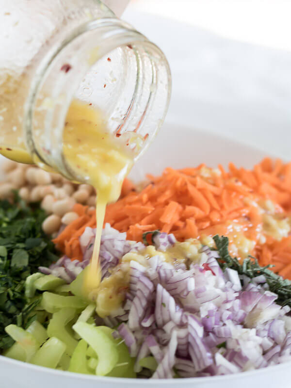 Lemon and Herb Summer Bean Salad | www.infinebalance.com #recipe #vegan