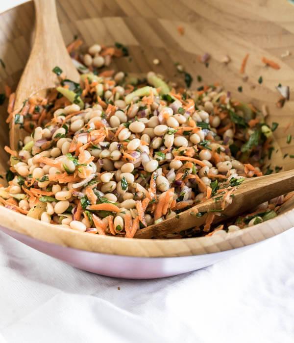 Lemon and Herb Summer Bean Salad | www.infinebalance.com #recipe #vegan