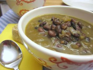 Simple Black Bean Soup with Rum   www.infinebalance.com #recipe #vegan